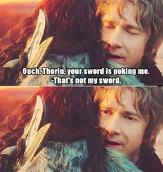 Thorin and Bilbo // funny pictures - funny photos - funny images - funny pics - funny quotes - #lol #humor #funnypictures