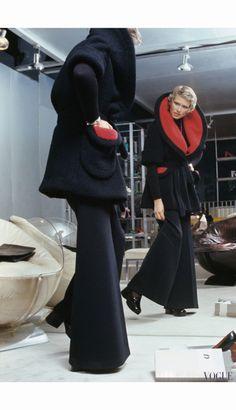 Susan Schoenberg in Pierre Cardin - Great Day Looks in the New York Collections - US Vogue September 1, 1972 © Kourken Pakchanian