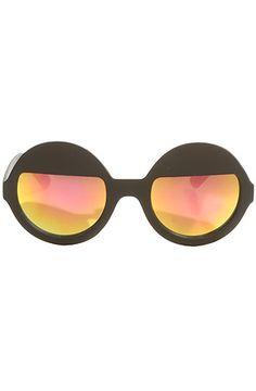 Quay Eyewear Sunglasses On Yai Round Frames in Black - Karmaloop.com