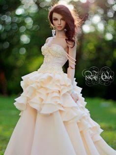 Doll in a wedding dress