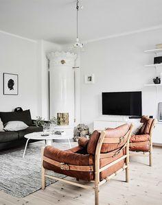 Monochrome Natural Swedish apartment | styling Sarah Wildman and Elin Kicken
