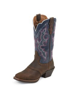 Womens Dark Brown Rawhide Boot - L7305... navy blue and hot pink boots... I SAY YES!!!!