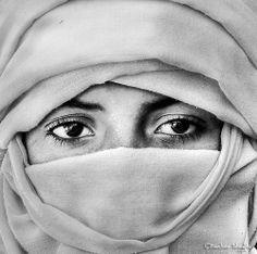 Veiled Tuareg Young Man by Bashar Sheglila