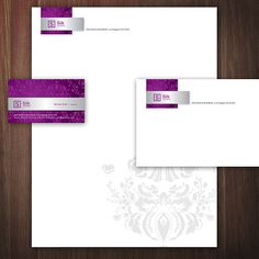 A Violet Stationery Set Design. #stationery #design  $29.00