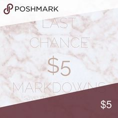 $5 MARKDOWNS!! LAST CHANCE / BUNDLE TO SAVE $5 MARKDOWNS! BUNDLE TO SAVE $$ and shipping!! Offers accepted on 4+ items. Tops