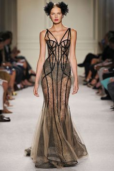 Marchesa Spring 2016: Look 2 - buy lingerie online, lingerie boutique, lingerie for ladies *ad