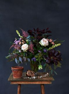 #stilllife #flowerarrangement #darkfloral Photo: Sian Richards. Producer: Emma Reddington. Prop Styling: Jen Evans.