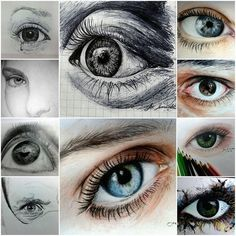 Incredible eye drawings!