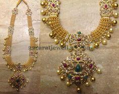 Jewellery Designs: Kundan Pachi Long Chain