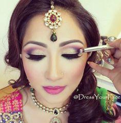 Amazing indian bridal makeup.