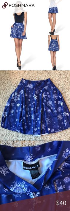 BlackMilk Snowfall Skater Skirt In good used condition. Small mark on the inside (shown in one of the pictures). Blackmilk Skirts
