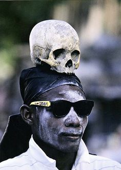 voodoo. People find this scarey or disturbing...but remember--it is someone elses belief