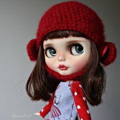 Tilia -custom ooak blythe doll, unique art doll by AlmondDoll