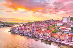 Man Made Porto  City Portugal House Colorful Boat Sunset Wallpaper