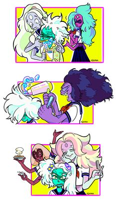 All the fusions hanging out