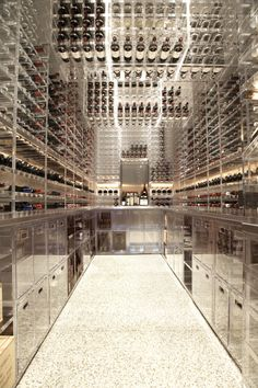 Modern wine cellar-now thats what I'm talking about!!!  I LIVE it!!!!
