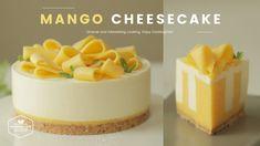 노오븐~♪ 망고 치즈케이크 만들기 : No-Bake Mango Cheesecake Recipe : マンゴーレアチーズケーキ | Co...
