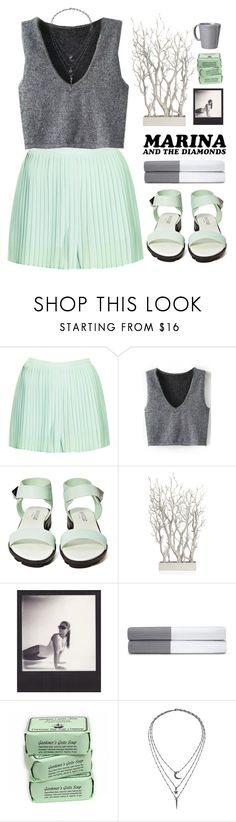 """Savages"" by centurythe ❤ liked on Polyvore featuring Topshop, Shoe Cult, Forum, Polaroid, Ralph Lauren Home, IaM by Ileana Makri and Vietri"