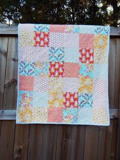 patchwork quilt using sweet as honey fabrics