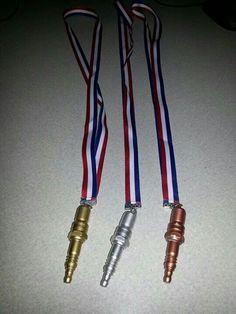 Spark Plug Medals
