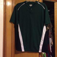 Augusta Mens Shirt Good condition mens shirt black, green and white Augusta sportswear Tops Tees - Short Sleeve