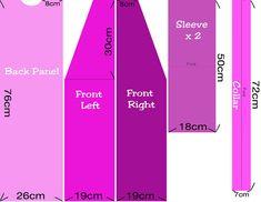 Yukata Pattern Measurements for Mecha Angel Girls by CharmeC, via Flickr