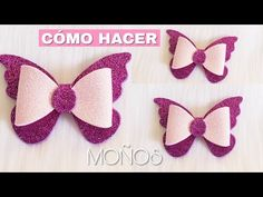 YouTube Diy Butterfly, Wedding Crafts, Hair Clips, Bows, Diy Crafts, Deco, Pretty, Flowers, Leather