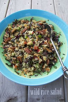 wild rice salad, easy to make, picnic food, one dish meal, pot luck, vegetarian