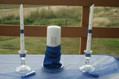 unity candles... i made for my sister in laws wedding
