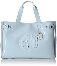 Armani Jeans Eco Patent East West Tote Light Blue * Want to know more, click on the image.Note:It is affiliate link to Amazon.