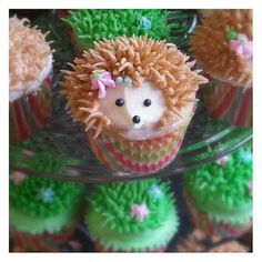 Hedgehog Cupcakes by TreatsbuyTerri on Etsy