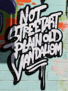 vandalism.