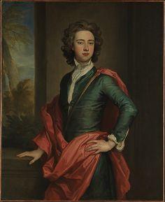 Charles Beauclerk (1670–1726), Duke of St. Albans  Sir Godfrey Kneller  (German, Lübeck 1646–1723 London)    Date:      ca. 1690–95  Medium:      Oil on canvas  Dimensions:      49 7/8 x 40 1/2 in. (126.7 x 102.9 cm)  Classification:      Paintings  Credit Line:      Bequest of Jacob Ruppert, 1939  Accession Number:      39.65.8    This artwork is currently on display in Gallery 513 Adele, Kehykset, Dibujo, Vanhanajan Kampaukset, Baroque, Vihreä Mekko, Historia, Valokuvaus