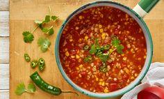 Chunky Corn, Tomato & Chorizo Soup with Barley