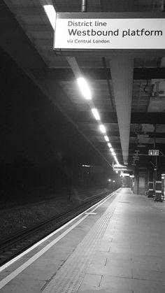 District Line, London, Black And White, Black White, Black N White, London England