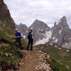 Ascesa al Monte Castellazzo sui #sentieri della grande guerra #Dolomiti Passo Rolle