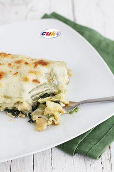 Pequerecetas - Lasaña de espinacas y pollo Cuk, ¡sana y deliciosa!