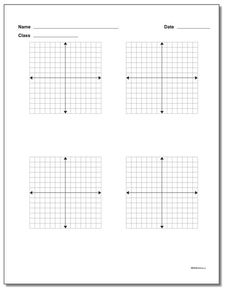 Blank coordinate planes in 4 quadrant and 1 quadrant versions in printable PDF form. Check out the versions with multiple coordinate planes per page for homework. Free Printable Math Worksheets, Printables, Similar Triangles, Calculus, Algebra, Basic Math, Math Facts, Graph Paper, Teaching Strategies
