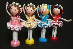Dance of the Daisies - Ballerina Clothespin Dolls   Flickr - Photo Sharing!