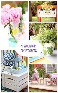 5 DIY Pinterest Projects for your Weekend brightboldbeautiful.com