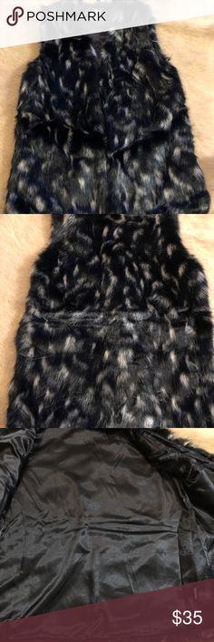 c9b5f7486fbb BEAUTIFUL RARE MINK FUR EMBA NATURAL PALE BLUE   BEIGE HIGH END QUALITY  CAPE-CAPLET WITH PLUSH SILVER FOX FUR COLLAR by Detroit Fur …