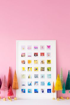 How to Make a Rainbow Photo Collage With Instax Square | studiodiy.com