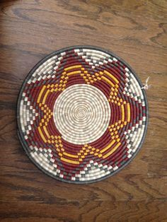 Uganda coil weave baskets are all natural.