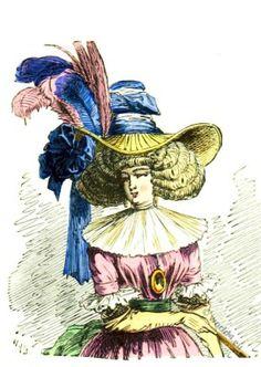 Headdress Rococo era. Chapeau à la Chinoise 1787.