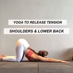 Yoga to relieve tension in your back and shoulders. Yoga Fitness, Fitness Workout For Women, Fitness Inspiration, Videos Yoga, Yoga Sculpt, Morning Yoga Routine, Gym Workout Tips, Yoga Beginners, Relaxing Yoga