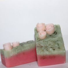 baby rose cold process soap by Ladybee Soaps #CP #soapcrafting #DIY