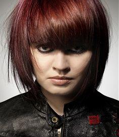 A medium brown straight bob hairstyle by Alan Edwards