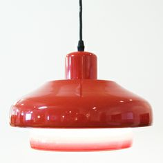 Danish Modern Red Pendant Lamp $495.00