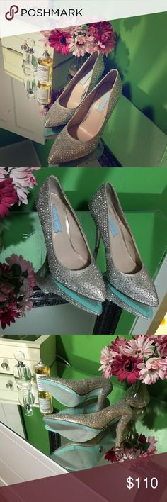 Brand New in Box!!! Prom Shoes!!! Brand New in Box!!!! Something by Betsey Johnson Champagne Fab Heels 3.5 Inch Heel. Perfect Prom or Wedding Shoes! Betsey Johnson Shoes Heels