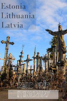Baltic road trip itinerary. Driving through Lithuania, Latvia and Estonia.